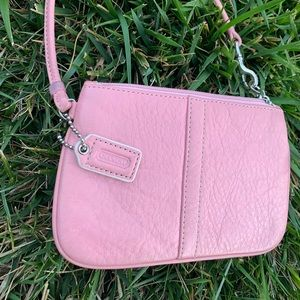 Coach Bags - Pink leather Coach Wristlet